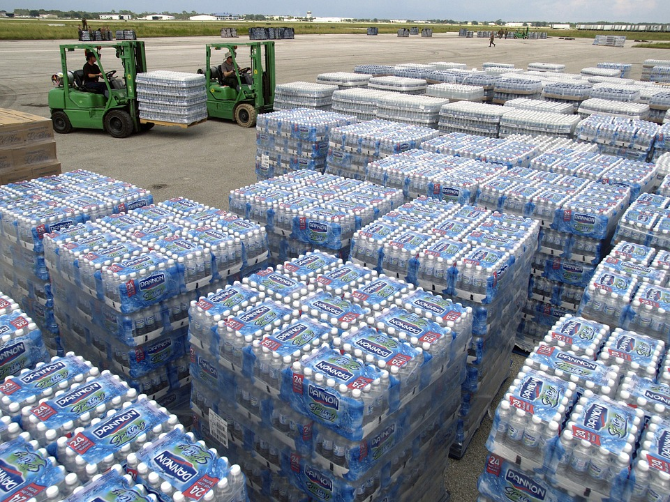 Water for hurricane relief